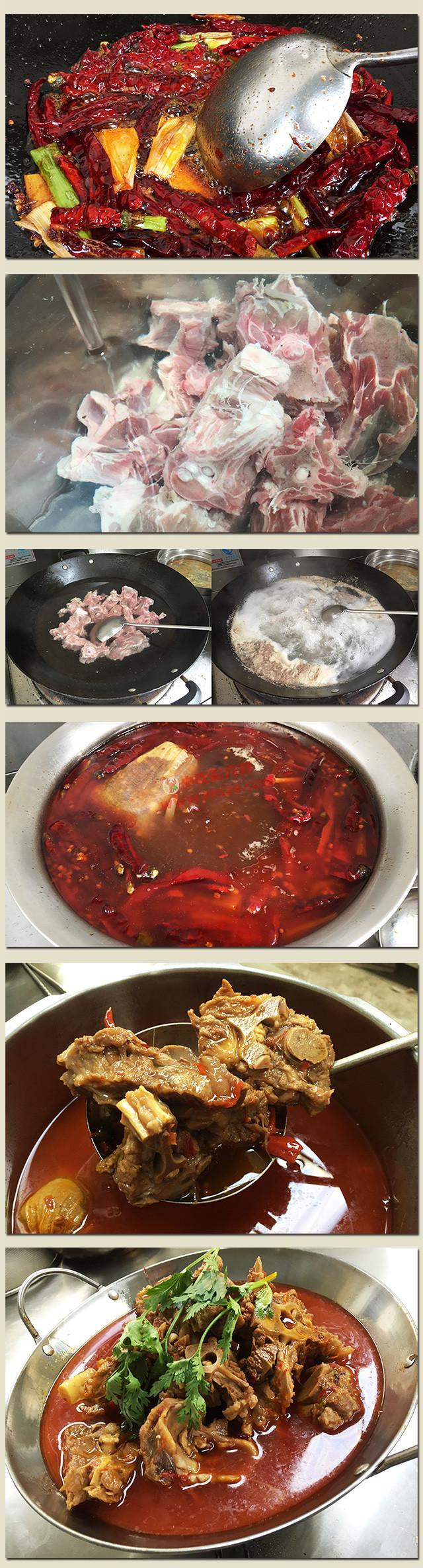老北京羊蝎子火锅做法和底料炒制配方,正宗技术教程视频大全 羊蝎子 第3张