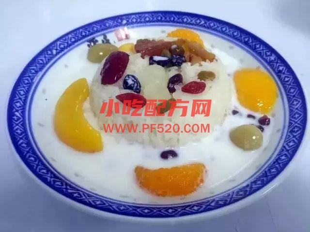 牛奶八宝饭和咸蛋黄肉松八宝饭的做法和教程